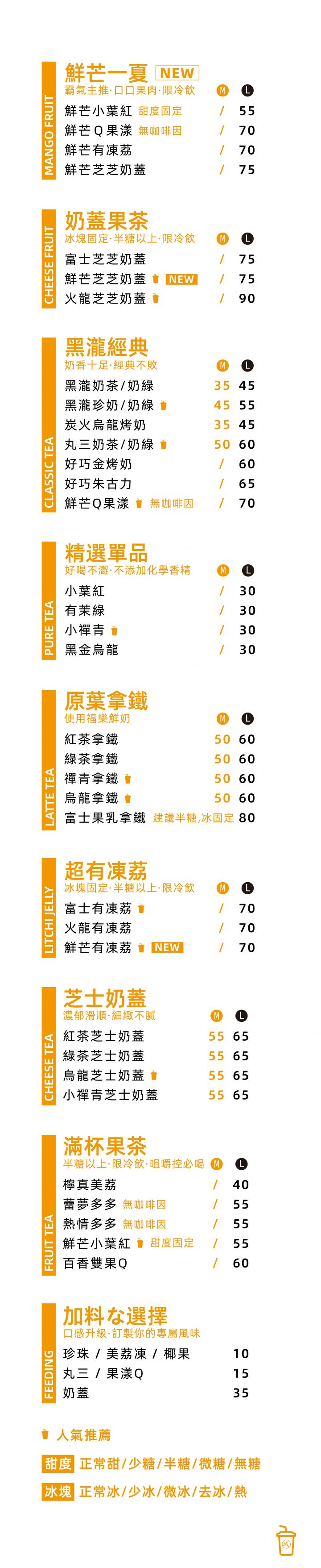 城市版菜單-手機